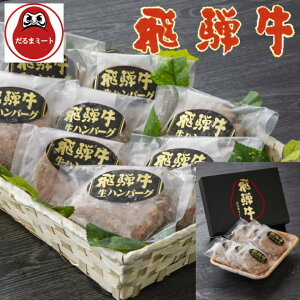 【送料無料】冷凍飛騨牛100% 生ハンバーグ 6枚入/ギフト/御中元/お歳暮