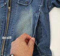 寅壱デニムライダースジャケット8950-554ストレッチデニム秋冬素材長袖ブルゾンジャンパー8950シリーズ作業服作業着