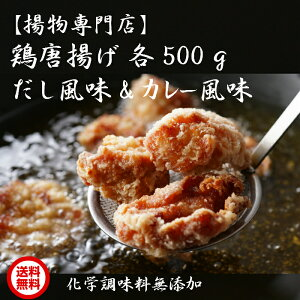 【揚物専門店】鶏 唐揚げ 化学調味料 無添加 出汁 から揚げ (だし風味&カレー風味/各500g)