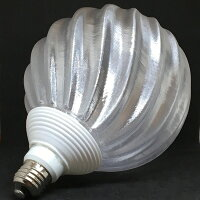 シンプルな 60W相当 1灯ペンダントライト 直径 15cm 3Dデザイン電球付き IIng 直径15cm おしゃれに きらめく裸電球 オリジナル透明ランプシェード 電球色 昼白色 LED照明器具 光の彫刻 天井照明 天井灯 ソケットランプ ペンダントランプ