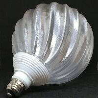 シンプルな 60W相当 1灯ペンダントライト 直径 18cm 3Dデザイン電球付き IIng 直径18cm おしゃれに きらめく裸電球 オリジナル透明ランプシェード 電球色 昼白色 LED照明器具 光の彫刻 天井照明 天井灯 ソケットランプ ペンダントランプ