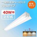 【笠付き型】LEDベースライト 40W型 40W形 2灯式 超省エネタイプ LED蛍光灯器具 led 照明器具 照明器具 天井 led 広配…