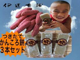 さつまいも かんころ餅 自然食品  餅菓子 長崎郷土菓子  干しいも スイーツ 3本入り 【配送はメール便のみ】