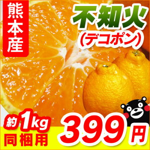 熊本産 不知火(デコポンと同品種)700g〜1kg 【 野菜セットと同梱で送料無料 ミカン みかん デコ 九州 熊本 】