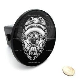 POLICE BADGE ヒッチカバー エクスペディション エクスプローラー F−150 フォードなどに☆[取付簡単][プレゼントに大人気][USA直輸入][LAで大人気][デイブレイク]