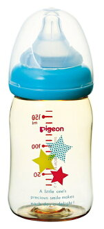 160 ml of star patterns made of Pigeon Pigeon mother's milk actual feeling nursing bottle plastic