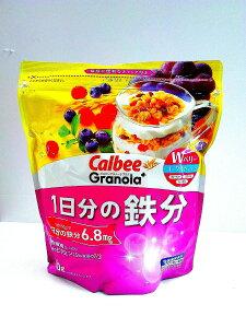 カルビー グラノーラプラス 1日分の鉄分 450gケース(8袋入)賞味期限2020年10月20日送料無料(北海道、沖縄は別途送料が掛かります)