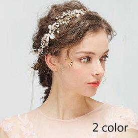 1e769874617f6 ヘッドアクセサリー ヘアアクセ カチューシャ ヘアバンド 髪飾り パール ストーン ビジュー 結婚式 ウェディング ブライダル パーティー