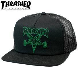 スラッシャー メッシュキャップ USAモデル ロゴ 帽子 スケートボードブランド スケートゴート 立体刺繍 スナップバック THRASHER SKATE GOAT EMB MESH CAP