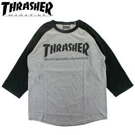 スラッシャー 七分袖 ロゴTシャツ 定番ロゴ メンズ レディース Tシャツ ラグランTEE THRASHER MAG LOGO TH82011