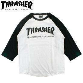 THRASHER スラッシャー 七分袖 ロンT 定番ロゴ メンズ レディース Tシャツ ラグランスリーブ TEE MAG LOGO TH82011