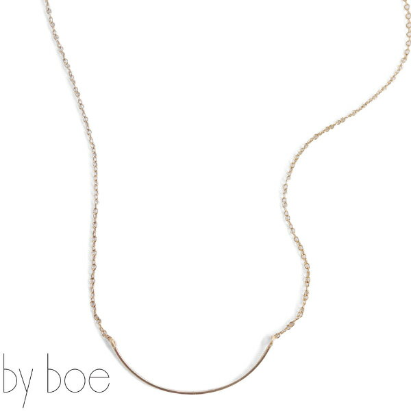 byboe バイボースモールカーブモチーフチェーンネックレス Chain Necklace w/Small Curved 221 アクセサリー プレゼントにも