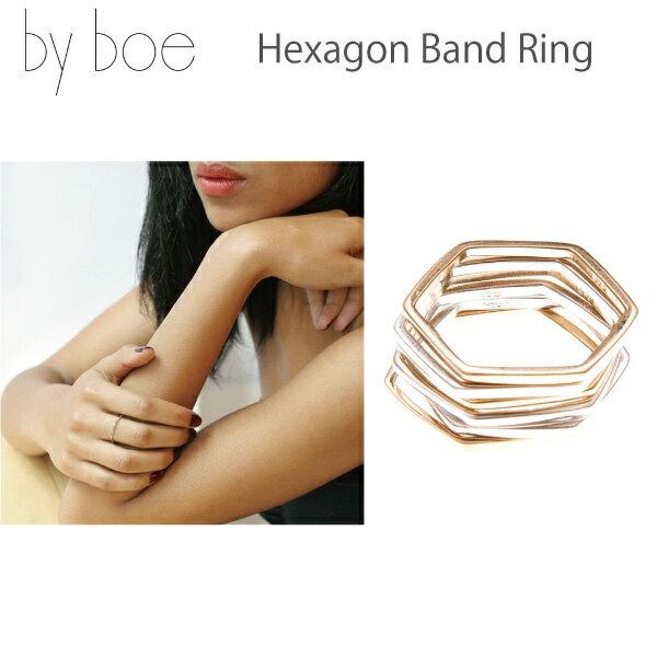 byboe バイボー正規品 ヘキサゴンバンドリング 指輪 Hexagon Band Ring MR-15 アクセサリー プレゼントにも