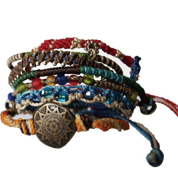 【WAKAMI】 即納 ワカミ アースブレスレット7ストランド アクセサリー ユニセックス Earth Bracelet 7 Strand 男女 プレゼントにも最適 chan luu好きにも WA0389