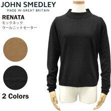 JOHN SMEDLEY ジョンスメドレー RENATA レディース モックネックウールニットセーター