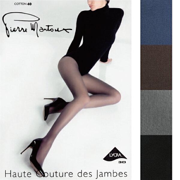 【Pierre Mantoux】ピエールマントゥー コットン40 Collant Cotton 40 14025 40デニール タイツ ストッキング ピエールマントゥ レディース レッグウェア