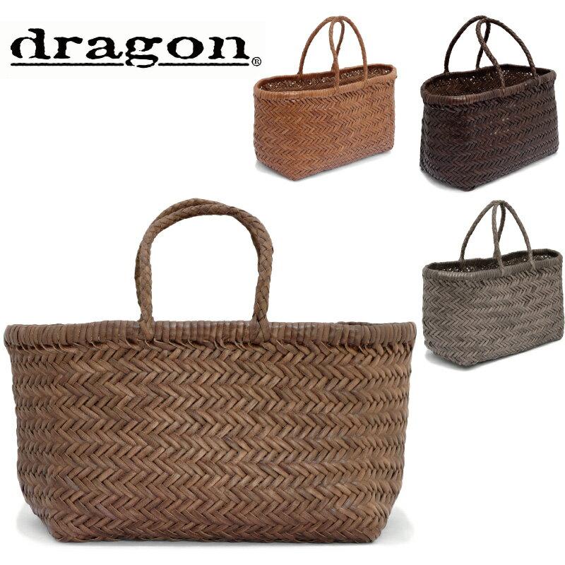 DRAGON DIFFUSION ドラゴンディフュージョン レザーメッシュ ハンドバッグ BAMBOO TRIPLE JUMP SMALL 8811 編み カゴバッグ かごバッグ