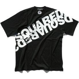 DSQUARED2 ディースクエアード メンズ ロゴTシャツ サイズ大き目 BLACK S74GD0664 S22427