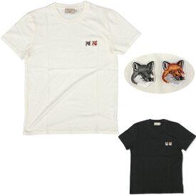 MAISON KITSUNE メゾンキツネ ユニセックス ダブルフォックスヘッドパッチ クルーネックTシャツ 半袖 BU00103KJ0008 メンズ レディース