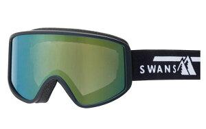 メーカー取り寄せ品ご注文後在庫の有無メールします。SWANSスキーゴーグル180-MDHBK色フレームブラックレンズオレンジミラー×グレイ