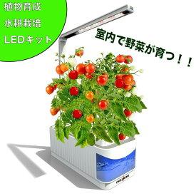 水耕栽培キット BARREL 水耕栽培器 LED照明付 スマートガーデン 水不足自動通知機能付き 家庭菜園 室内水耕栽培 自然植物野菜育成キット 家庭菜園キット 水耕栽培キット