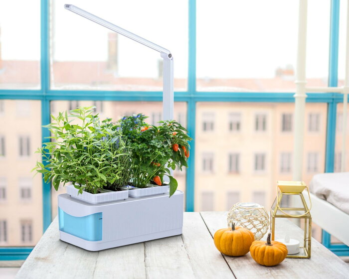 水耕栽培キットBARREL水耕栽培器LED照明付スマートガーデン水不足自動通知機能付き家庭菜園室内水耕栽培自然植物野菜育成キット家庭用植物育成用ライト読書灯としても活用可能