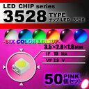 LEDチップ ( 3528 Type ) ピンク ( 50個set ) エアコン 打替え エアコンパネル メーター スイッチ 明るい 高…