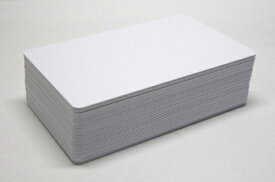 プラスチックカード(PVCカード・IDカード)つやあり 白無地 0.76mm厚 ISO規格サイズ(クレジットカードサイズ)500枚 型番5800005 カードプリンタ用(社員証、会員証、認定証発行などに)