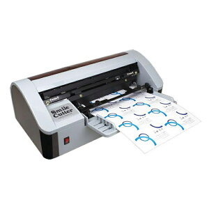 名刺カッター スマイルカッター10(Smaile Cutter10) 名刺10面付用紙(A4)を縦横2回通紙で名刺サイズに裁断できるローコスト名刺カッターです。裁ち落としも可能。