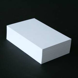 A4名刺用紙 FSC森林認証 ビーナスCoC 10面付 0.235mm厚 (用紙220枚+ワンタッチ式名刺箱20個付)印字後、名刺カッター・裁断機にて裁断加工が必要。143013※レーザープリンタ用です【代引き不可