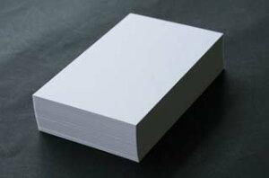 <メーカー在庫限り>FSC森林認証A4名刺用紙 ホワイトプリンスCoC 10面付 0.196mm厚 (用紙110枚+紙だけの窓付名刺箱10個付)印字後、名刺カッター・裁断機にて裁断加工が必要。143111※レーザ