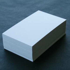 A4名刺用紙 雪(アート紙)並口 10面付 0.262mm厚 (用紙110枚+紙だけの窓付名刺箱10個付)印字後、名刺カッター・裁断機にて裁断加工が必要。143123※レーザープリンタ用です【代引き不可】