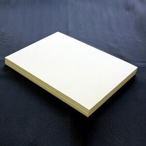 A4名刺用紙 FSC森林認証 名刺用紙 さくら クリームCoC 10面付 0.25mm 143132(用紙110枚+紙の窓付名刺箱10個付)印字後、名刺カッター・裁断機にて裁断加工が必要。※レーザープリンタ用です【代