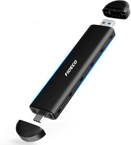 FIDECO M.2 NVMe PCIe & SATA SSDケース USB3.1 Gen2(B-Key, M-Key or B+M Key対応)2230 2242 2260 2280対応 変換アダプタ ポータブル ハードドライブ エンクロージャ、UASPサポート USB C + USB A インターフェース 送料