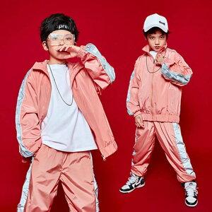 子供服 キッズ ダンス衣装 男の子 女の子 長袖 ヒップホップ 舞台衣装 試合 趣味 3点セット Hip hop アウター Tシャツ ズボン ダンスウェア ファッション 110 120 130 140 150 160 170 180