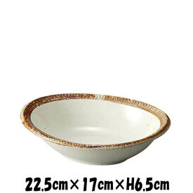渕錆粉引楕円鉢 陶器磁器の食器 おしゃれな業務用和食器 お皿大皿深皿