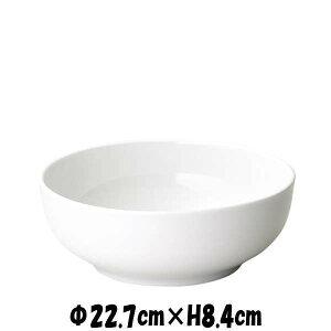 天安 22.5cmボール 白 陶器磁器の食器 おしゃれな業務用洋食器 お皿大皿深皿