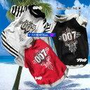 犬服 十字架柄Tシャツ☆All For One 007(中型犬用)【犬の服2点購入でメール便送料無料】ドッグウェア