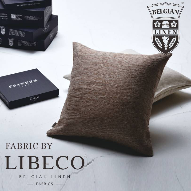 クッションカバー 45×45 cm【最高級ベルギーリネン】【LIBECO社リネン使用】【FRANKEN WORKS】