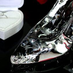 【名入れ無料ギフト】ガラスの靴シンデレラハイヒールお祝いプロポーズ母の日結婚祝いプレゼント贈り物記念品誕生日【楽ギフ_包装選択】【楽ギフ_メッセ入力】【楽ギフ_名入れ】【名入れ記念品】CH-1
