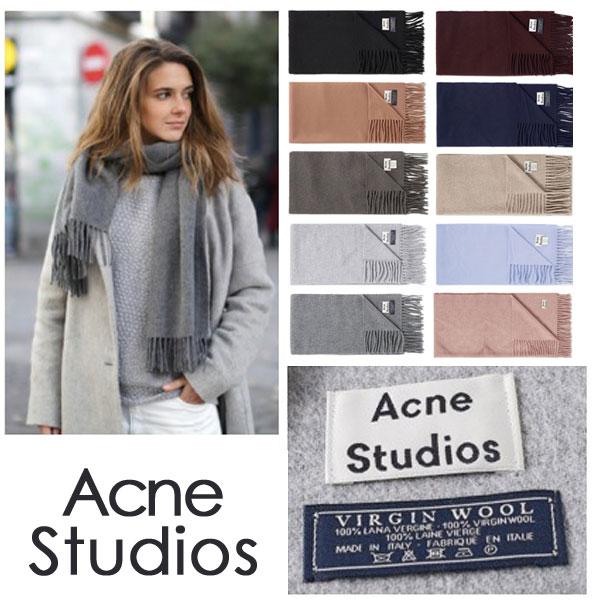 アクネ ストゥディオズ ACNE STUDIOS 大判ウールマフラー マフラー ストール ウール ウール100% レディース メンズ スカーフ 人気 全10色