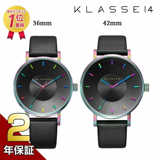 [2年保証]KLASSE14 クラス14 MARIO NOBILE VOLARE 腕時計 メンズ レディース 36mm 42mm Rainbow レザーベルト ユニセックス プレゼント 母の日