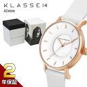 [2年保証] クラス14 KLASSE14 腕時計 プレゼント ギフト VOLARE WHITEROSE メンズ レディース 42mm ホワイト ゴールド…