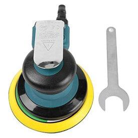 MR:Qiilu 5インチ エアーサンダー ポリッシャー サンダー 空気圧 研磨工具 洗車 研磨用 使いやすい 低騒音 金属製 10000rpm 1/4輸入口 6.2bar