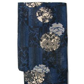 【MAX2000円OFFクーポン配布中】綿絽浴衣 単品 雪輪 紺 レディース 30代 40代 50代 女性用 藍 青 赤 花 レトロ 夏着物