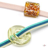 帯留め新島ガラスとんぼ玉帯飾り箔入りガラス工芸和装小物