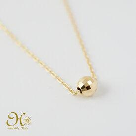 k18 ゴールド ミラーボール ネックレス 18金 重ね付け 華奢ジュエリー 一粒ネックレス 無料ラッピング ギフト