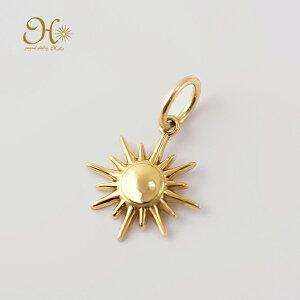 k18 ゴールド ネックレス ペンダントトップ 太陽 サンチャーム 18金 お守りジュエリー 重ね付け 華奢