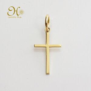 k18 ゴールド ネックレス ペンダントトップ 十字架 クロスチャーム 18金 お守りジュエリー 重ね付け 華奢