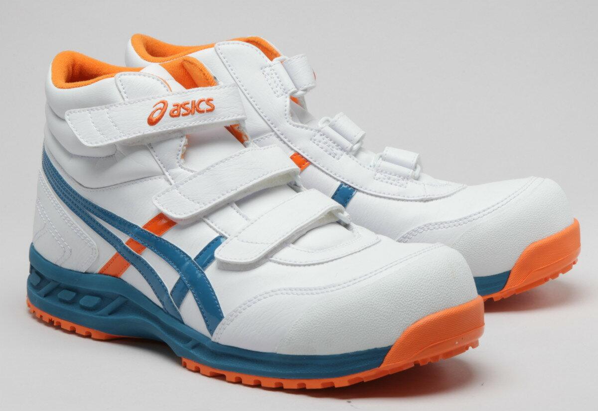 【2017年12月で製造終了サイズによっては在庫がない場合あります】アシックス安全靴 FIS53S ウィンジョブ53S 合皮ハイカットタイプ作業靴 マジック止め(JSAA A種 樹脂先芯)【2360063】